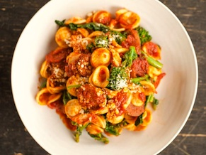 Orecchiette with Rapini and Sausage